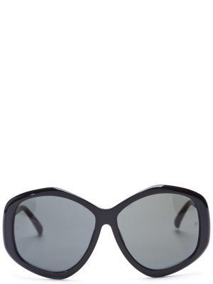 Солнцезащитные очки LINDA FARROW. Цвет: черный