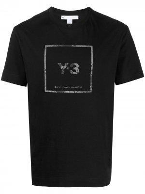 Футболка с логотипом Y-3. Цвет: черный