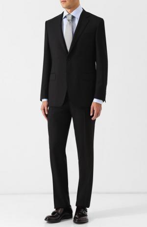 Шерстяной костюм Canali. Цвет: чёрный