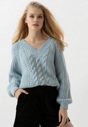 Пуловер Love Republic. Цвет: голубой