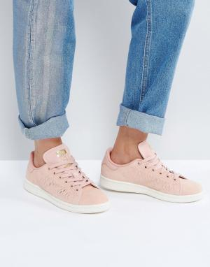 Кроссовки кораллового цвета Stan Smith adidas Originals. Цвет: розовый