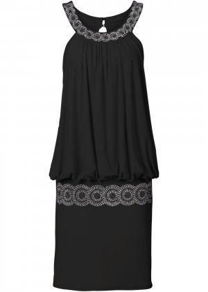 Коктейльное платье bonprix. Цвет: черный