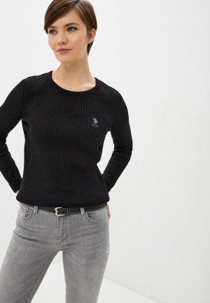 Джемпер U.S. Polo Assn.. Цвет: черный