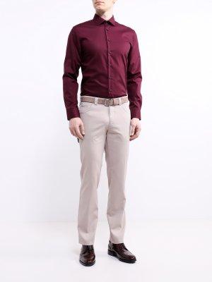 Рубашка с длинным рукавом Seidensticker. Цвет: bordovyy