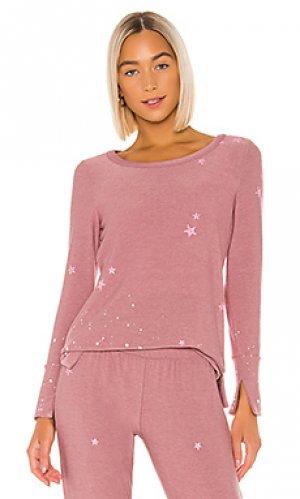 Свитшот pinky stars Chaser. Цвет: розовый