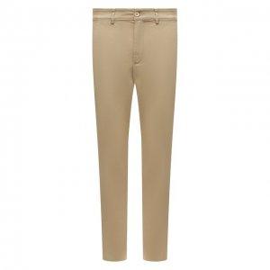 Хлопковые брюки Aspesi. Цвет: бежевый