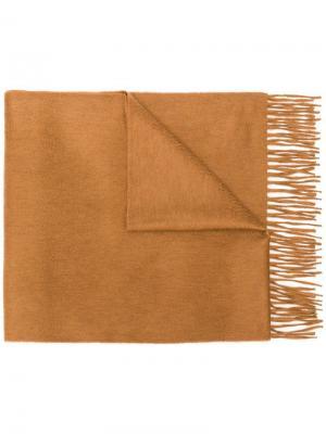 Шарф с бахромой Begg & Co. Цвет: коричневый