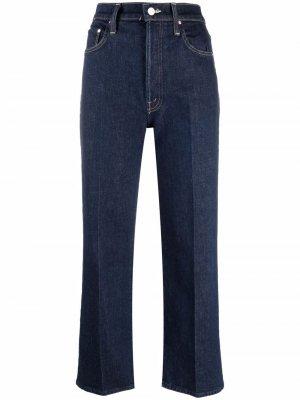 Wide-leg cropped jeans MOTHER. Цвет: синий