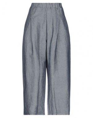Повседневные брюки MAMA B.. Цвет: темно-синий