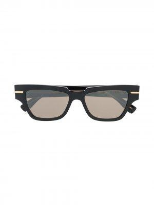 Солнцезащитные очки в квадратной оправе Cutler & Gross. Цвет: черный