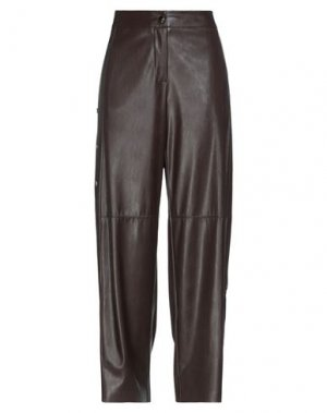 Повседневные брюки BABYLON. Цвет: темно-коричневый
