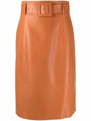 Юбка-карандаш с поясом Drome. Цвет: коричневый