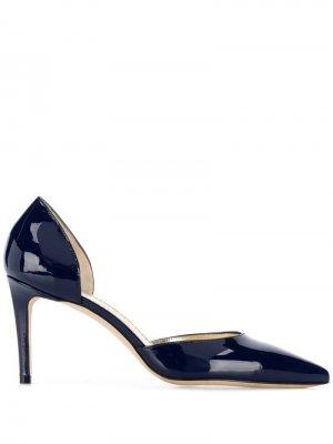 Туфли-лодочки с заостренным носком Antonio Barbato. Цвет: синий