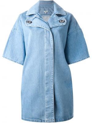 Объемная джинсовая куртка Kenzo. Цвет: синий