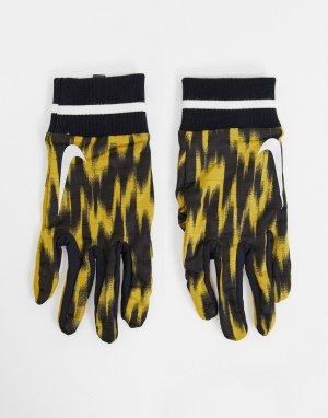 Черные мужские перчатки для бега с принтом Wild Run Sphere-Черный цвет Nike