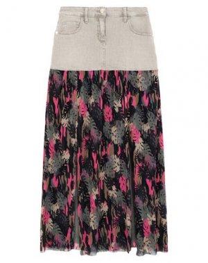 Длинная юбка MARANI JEANS. Цвет: зеленый-милитари