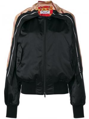 Куртка-бомбер с шарфом Balenciaga. Цвет: чёрный