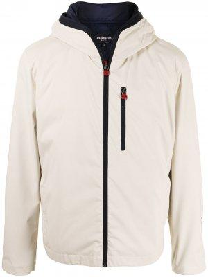 Куртка с капюшоном и съемным жилетом Kiton. Цвет: белый