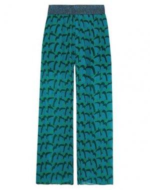 Повседневные брюки ANNA SUI. Цвет: цвет морской волны