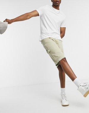 Бежевые шорты-карго -Бежевый Kickers