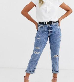 Рваные джинсы в винтажном стиле -Синий River Island Petite