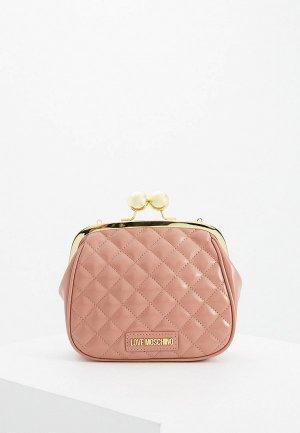 Клатч Love Moschino. Цвет: розовый