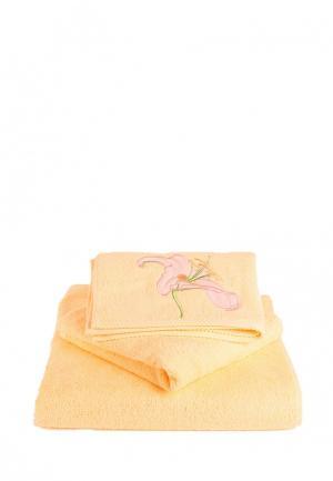 Набор полотенец Bellehome Лили жонки. Цвет: желтый