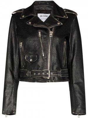 Байкерская куртка Moto RE/DONE. Цвет: черный