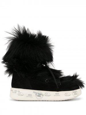 Ботинки на шнуровке с искусственным мехом Premiata. Цвет: черный