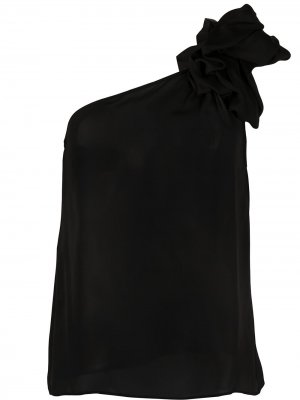 One-shoulder draped-detail top Giorgio Armani. Цвет: черный