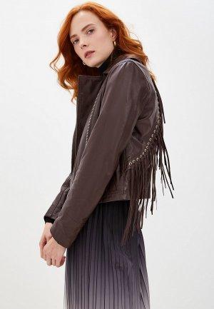 Куртка кожаная Marciano Los Angeles. Цвет: бордовый