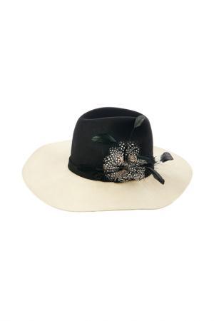 Шляпа Pierre Cardin. Цвет: черный, молочный