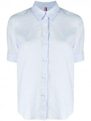 Однотонная рубашка Tommy Hilfiger. Цвет: синий