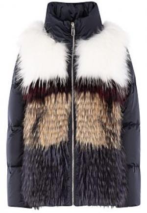 Комбинированная куртка из меха енота Virtuale Fur Collection