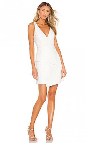 Асимметричное платье BCBGMAXAZRIA. Цвет: белый