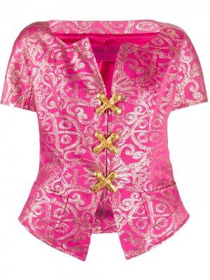 Блузка с короткими рукавами и принтом Christian Lacroix Pre-Owned. Цвет: розовый
