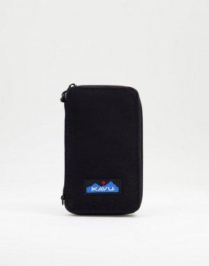 Черный бумажник Kavu Go Time-Черный цвет