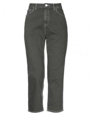Джинсовые брюки-капри HAIKURE. Цвет: зеленый-милитари