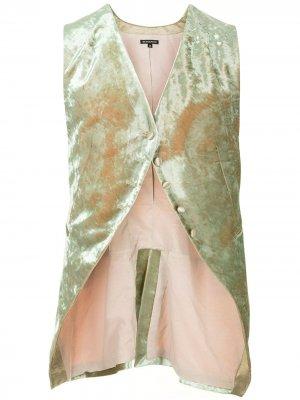 Бархатный жилет на пуговице Ann Demeulemeester. Цвет: зеленый