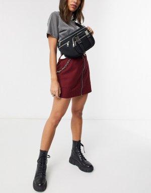 Черная сумка-кошелек на пояс -Черный Nunoo
