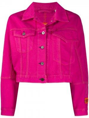 Джинсовая куртка свободного кроя из коллаборации с Levis Heron Preston. Цвет: розовый