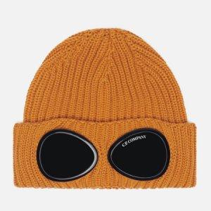 Шапка Extra Fine Merino Wool Goggle C.P. Company. Цвет: оранжевый