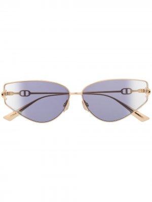 Солнцезащитные очки с эффектом градиента Dior Eyewear. Цвет: золотистый