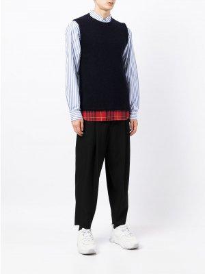 Шерстяной жилет с круглым вырезом Comme Des Garçons Shirt. Цвет: черный