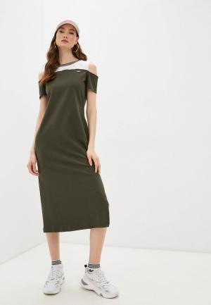 Платье Liu Jo Sport. Цвет: хаки