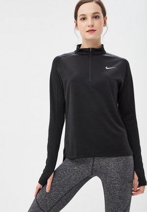 Лонгслив спортивный Nike PACER WOMENS LONG-SLEEVE 1/2-ZIP RUNNING TOP. Цвет: черный