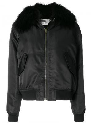 Куртка-бомбер на молнии Army Yves Salomon. Цвет: чёрный
