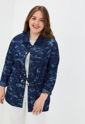 Куртка джинсовая Olsi. Цвет: синий