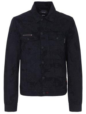 Куртка джинсовая с принтом PHILIPP PLEIN