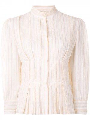 Блузка Gardenesque Karen Walker. Цвет: белый